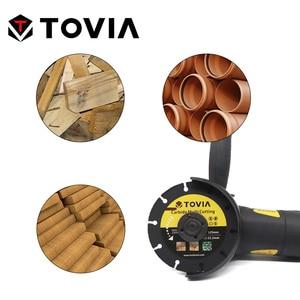 Image 5 - TOVIA 125mm piła węglikowa ostrza cięcie drewna tarcza do cięcia drewna tarcza Multitool przyrząd do cięcia drewna szlifierka kątowa do drewna