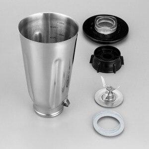 Image 4 - 5 カップステンレス鋼ブレンダー瓶セットフリップトップ蓋抽出ブレード 2 フィットガスケットオスターのためのフィット