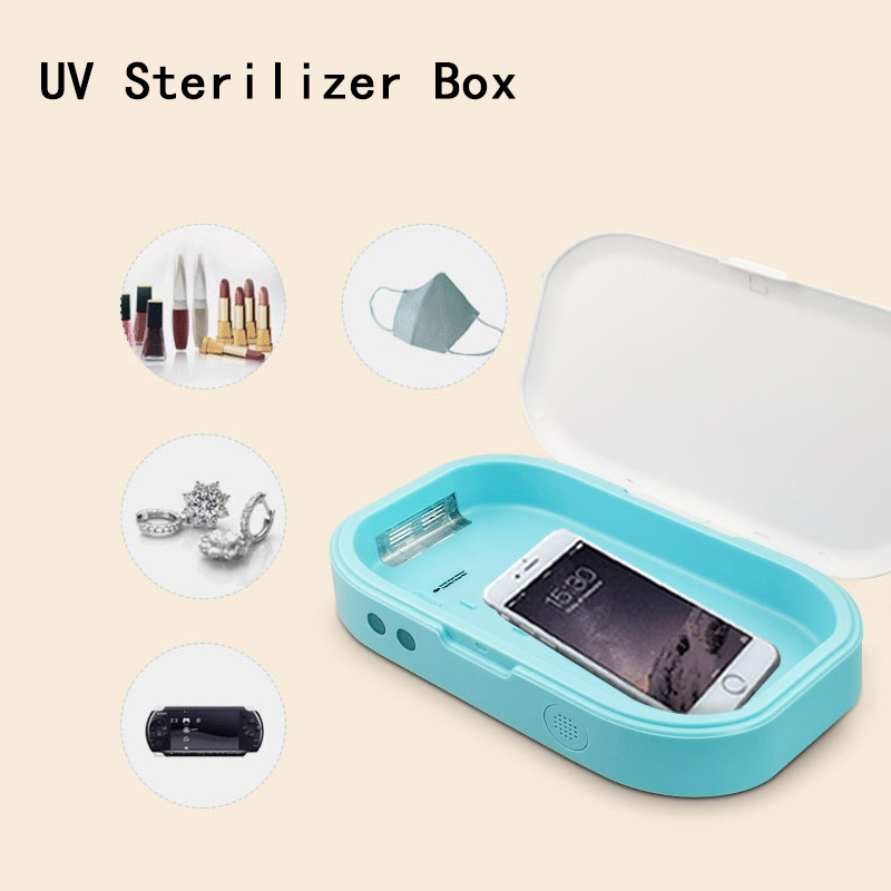Mini Sterilization Box Multi-function UV Sterilizer Box Toothbrush Cell Phones Face Mask Disinfection Machine Cosmetic Tool