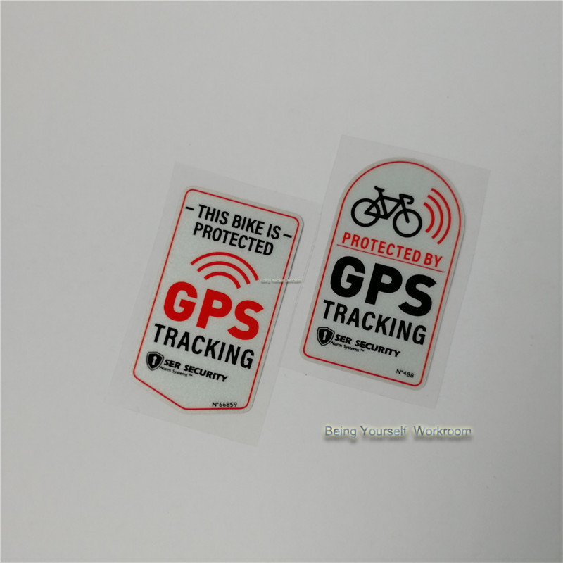 Anti Theft Safety Decal Bicycle GPS Tracking Stickers Bike ProtectionBLUS