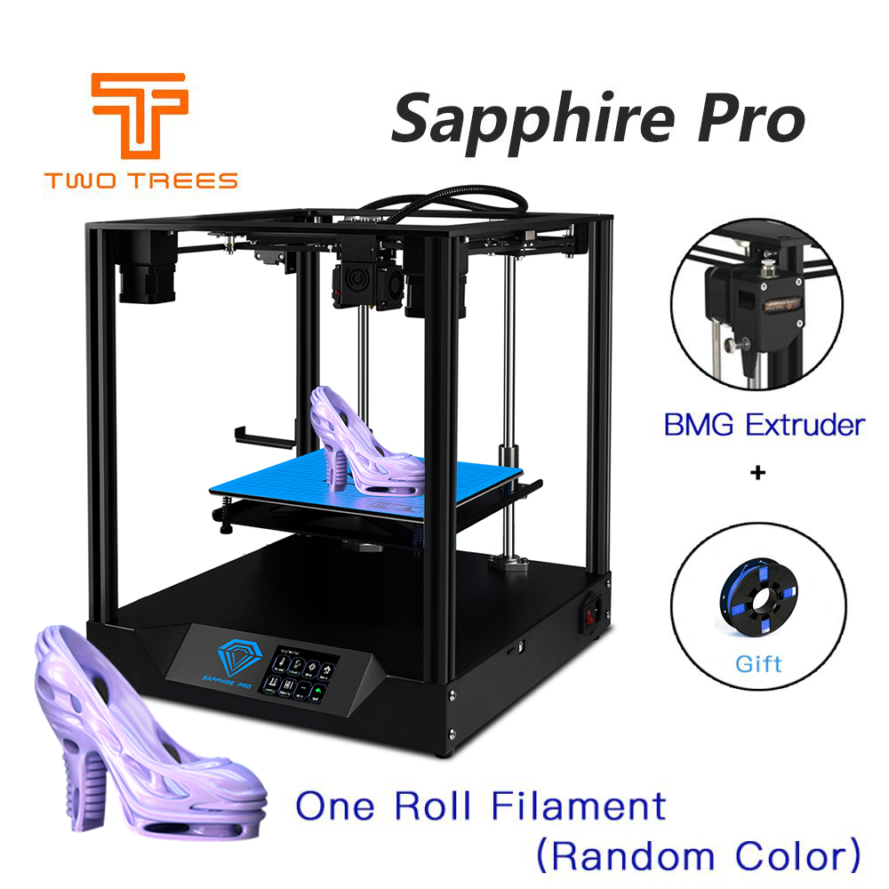 Free shipping TWO TREES 3D Printer Sapphire pro BMG Extruder CoreXY Aluminium Profile