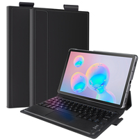 US/RU/SPA/GER/FR Bluetooth Tablet Touchpad Trackpad Keyboard For Samsung Galaxy Tab S6 10.5 Inch SM 860 T865 With Leather Case