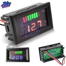 12V LED Lead-Acid Battery Indicator Lithium Battery Capacity Acid Tester Voltmeter Charge Level Indicator For Arduino Red Blue