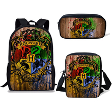 NOISYDESIGNS Children School Bags For Teenage Boys Kids 3PCS/SET Magic Printing Satchel Backpack Mochila Escolar Mujer