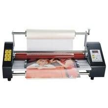 Máquina laminadora de papel i9460T A2 +, laminadora en frío y caliente de cuatro rodillos, película de laminación de fotos, versión en inglés