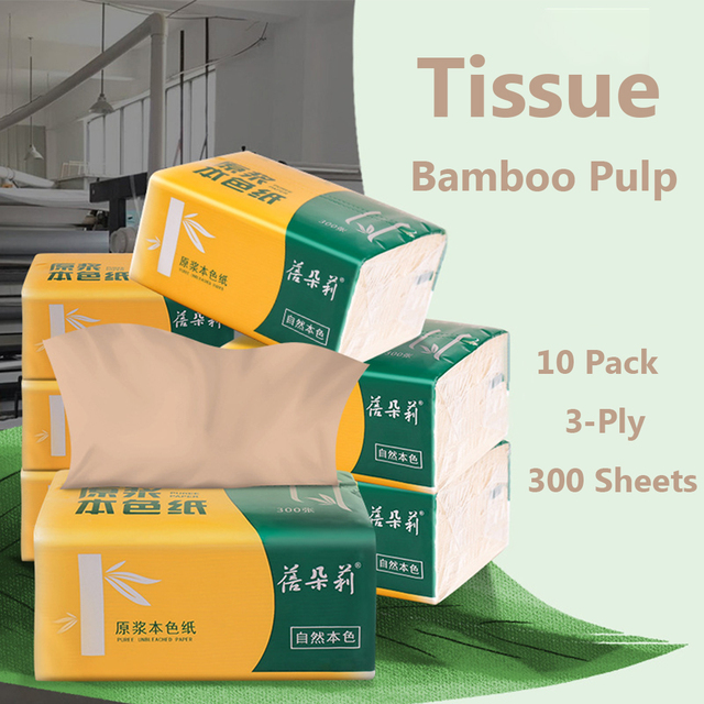 10 Packs Comfortable Paper Towels Bathroom Toilet Paper No Fragrance Baby Suitable Facial Tissues Home Kitchen Supplies
