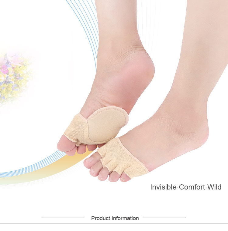 Forefoot Pad Shoe Sticker Anti-slip High Heeled Insert Shoe Filler Shoe Accessories Invisible Breathable Cotton Pads Sock TSLM1