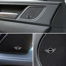4 pçs de alumínio 3d alto-falante estéreo emblema adesivo para mini cooper countryman clubman f54 f56 f55 f60 r60 r61