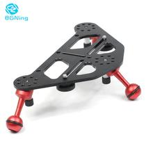 Aluminium DSLR Diving Photo Triangular Gimbal Tray Rig Mount for Underwater Light Stand Stabilizer Bracket Camera Tripod Support