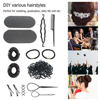 Akcesoria do stylizacji włosów zestaw spinka do stylizacji włosów szpilka do krawata kok warkocz Maker DIY do włosów warkocze narzędzie akcesoria do stylizacji włosów zestaw tanie i dobre opinie abody Hair Styling Accessories Kit 40 7g