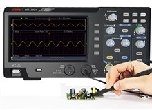 Osciloscópio de armazenamento digital 2 canais 200mhz de largura de banda 7 osciloscildisplay lcd portátil usb osciloscópios