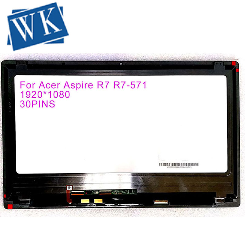 Free Shipping For ACER ASPIRE R7-571 R7-571G Touch Lcd Screen Assembly B156HAN01.2 15.6