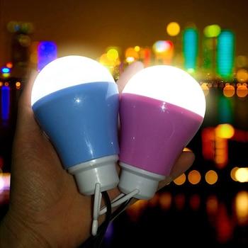 Bombillas de luz LED USB de 5w lámpara de Camping de emergencia para el mercado nocturno para senderismo tienda de campaña de viaje
