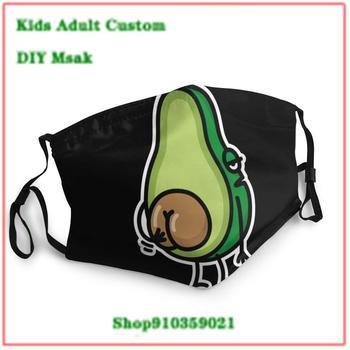 New Design mouth mask washable kids Funny Avocado Butt Scratching Ass Gift Idea mascarillas de tela lavables con filtro