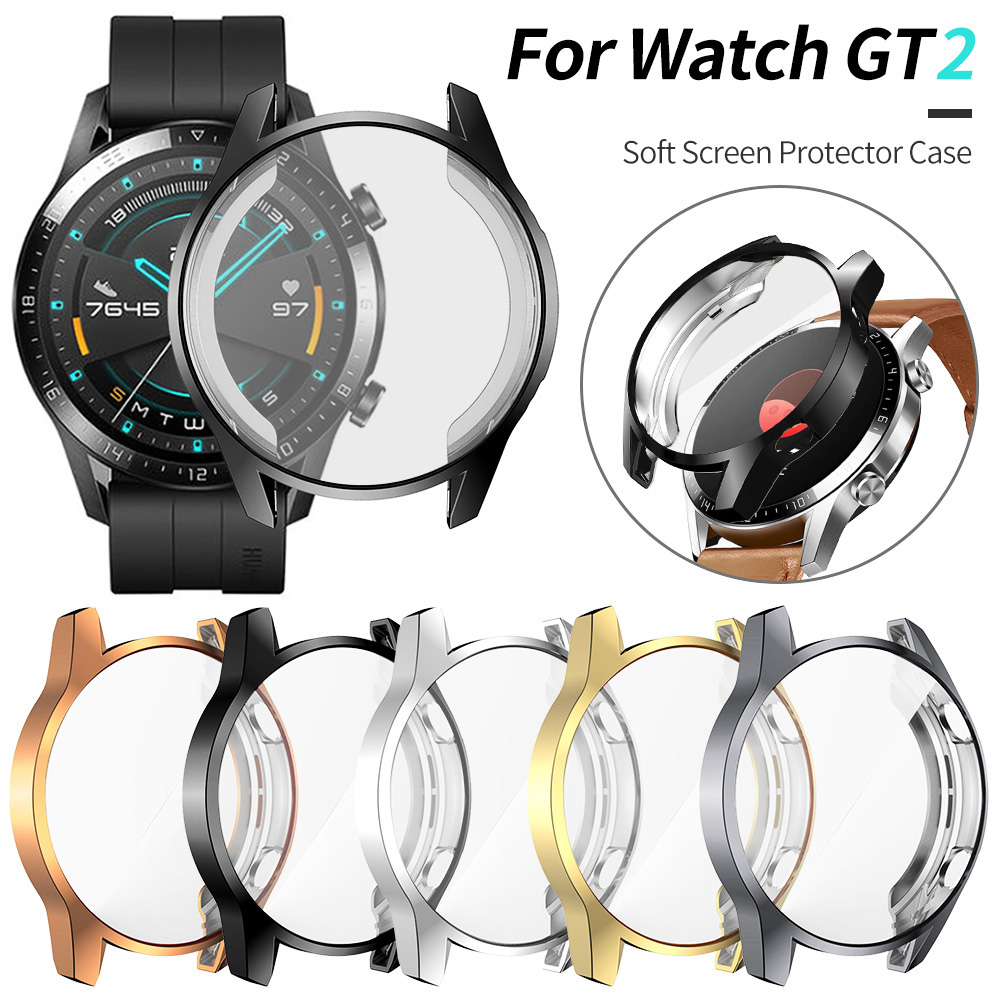 Screen Protector Cover For Huawei Watch GT 2 46mm Case GT2 Soft Tpu Scratch-resistant Shell Lightweight Thin Bumper Accessories
