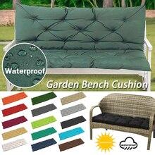 1 pçs estilo europeu 2/3 seater jardim banco à prova dwaterproof água almofada macia respirável grosso cor sólida ao ar livre cadeira de balanço