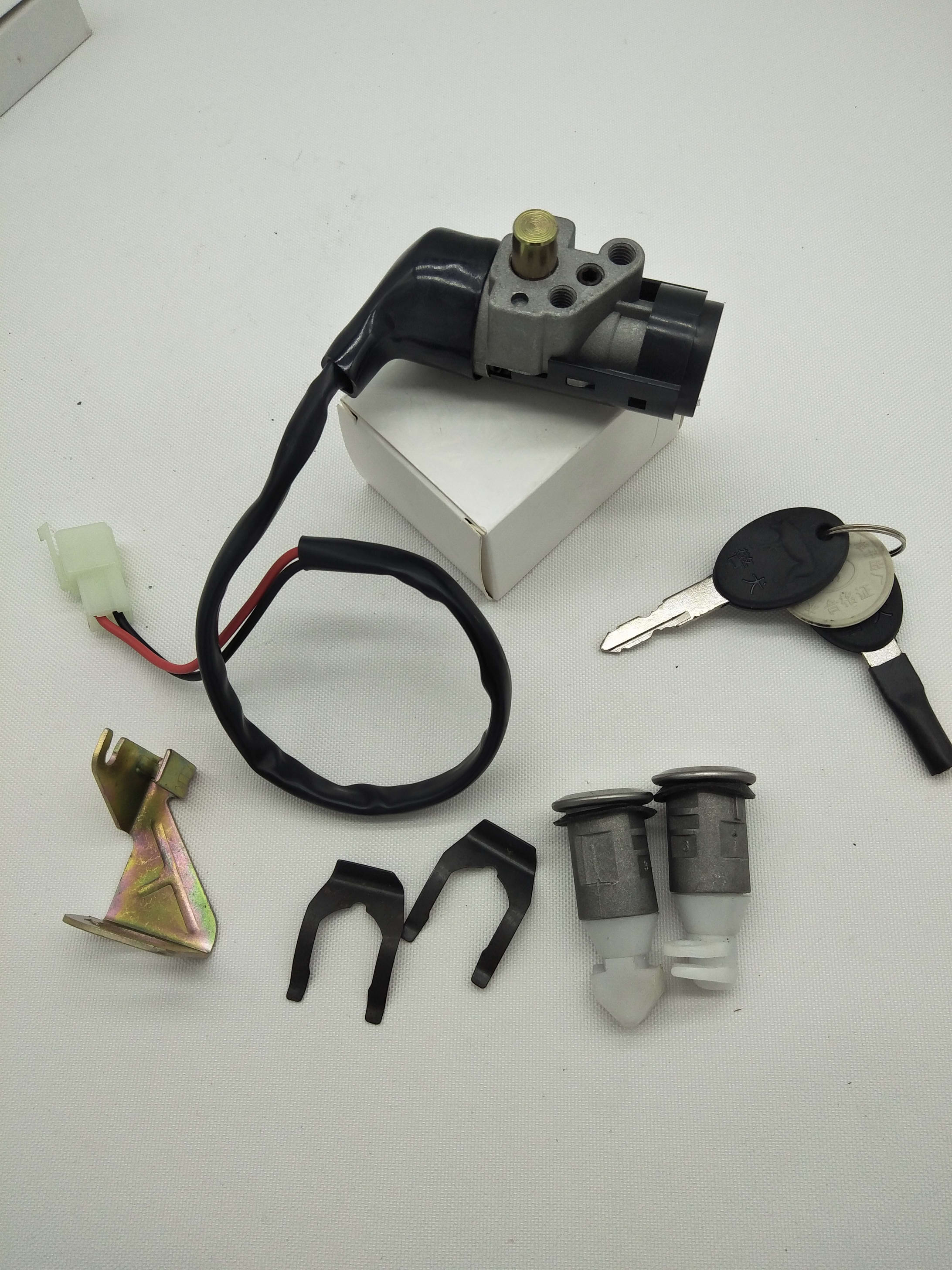 A521 Scooter Motorcycle GY6125 50cc 150cc Electric Door Lock For Honda WH100 WH125 2 Wire Or 5 Pins Power Door Lock