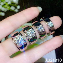 KJJEAXCMY boutique jewelry 925 sterling silver inlaid Mosang Diamond gemstone men ring support detection popular