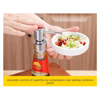 1pc Kitchen Multi-use Extruder Oyster Sauce Bottle Pressure Mouth Ketchup Press Pump Head Fuel Consumption Press Peper Spray Hot image