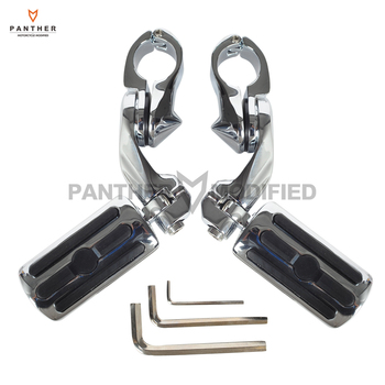 """Universal 32mm 1-1/4"""" Motocycle Adjustable Foot Pegs Footpeg Moto Foot Rest case for Honda Harley Touring Softail 883 1200 XL"""