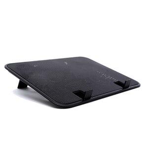 Image 1 - 高品質14インチのノートブッククーラー5vデュアルファンusb外部ラップトップ冷却パッドスリムスタンド高速サイレント金属パネルファン