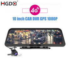 Video-Recorder Dash-Cam Rear-View-Mirror Android DVR Car Registrar HGDO FHD GPS 1080P