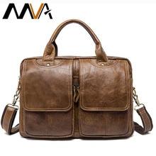 MVA Men's Bag Genuine Leather Messenger Bag