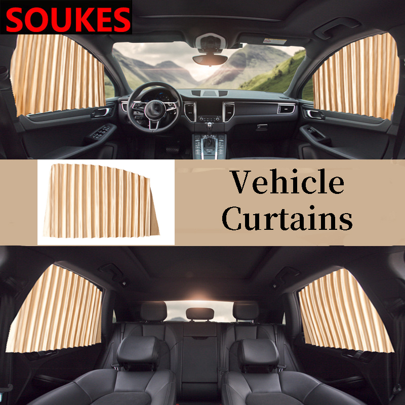 Easy Install Car Window Sun Shade Curtain For Renault Megane 2 3 Duster VW Touran Passat B6 Golf 7 T5 T4 Fiat 500 Accessories