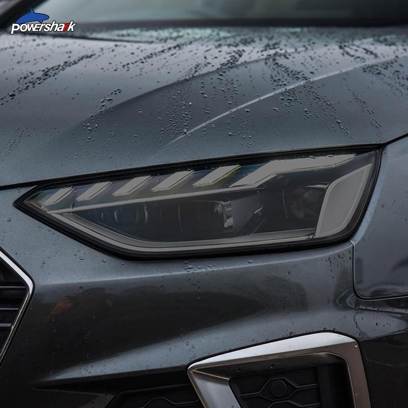 2 шт., автомобильная фара, тонированная Черная защитная пленка, прозрачная наклейка из ТПУ для Audi A4 B8 B9 8K 8W S4 RS4, аксессуары|Наклейки на автомобиль| | АлиЭкспресс