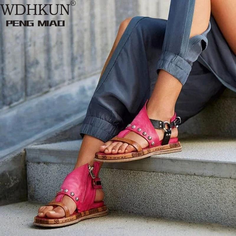 2020 New Summer White Wedge Espadrilles Women Sandals Open Toe Gladiator Sandals Women Casual Lace Up Women Platform Sandals