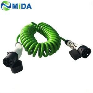 DUOSIDA 16A 32A ładowarka EV typ 2 do typu 2 EVSE kabel ładujący IEC 62196 Mennekes wtyczka samochodowa ładowarka samochodowa EV typ2