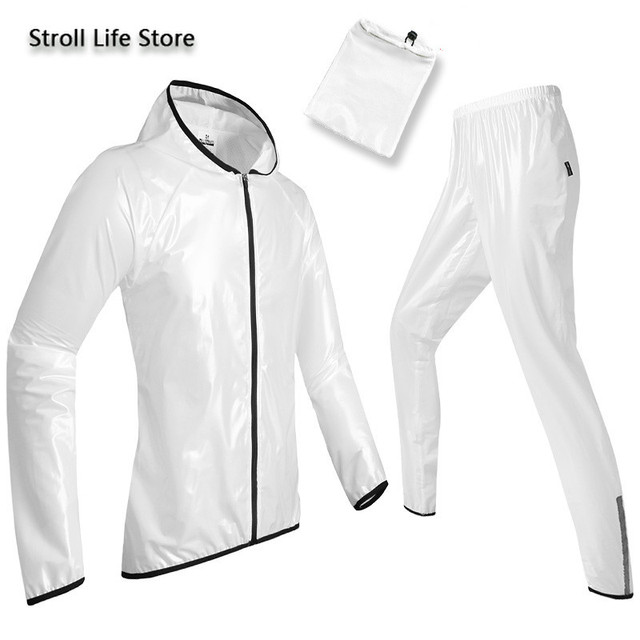 Outdoor Waterproof Suit Transparent Raincoat Men and Women Motorcycle Rain Coat Hiking Adult Thin Breathable Rain Pants Gift 4