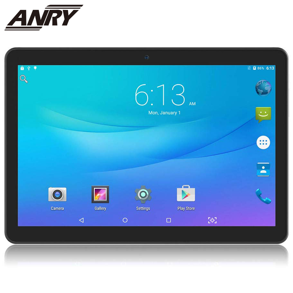 ANRY 10.1 Inch 3G 4G Dula Sim Phone Calls Tablet Computer Android 7.0.IPS Screen 1280*800 Bluetooth Wifi Tablet PC Child'Gift