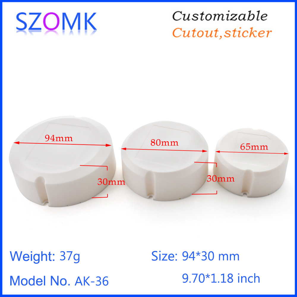 SZOMK power supply led driver plastic enclosure for electronics junction box instrument housing (7)