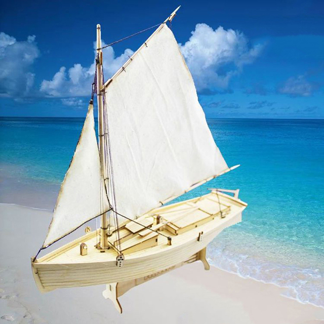 1:70 Scale Sailboat Model DIY Ship Assembly Model Kits Classical Handmade Wooden Sailing Boats Children Toys Gift 1