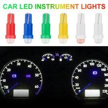 10 pçs interior do carro conduziu a lâmpada do painel de sinal lâmpada t5 1smd cob carro led instrumento luz indicador automático lâmpada luzes do carro