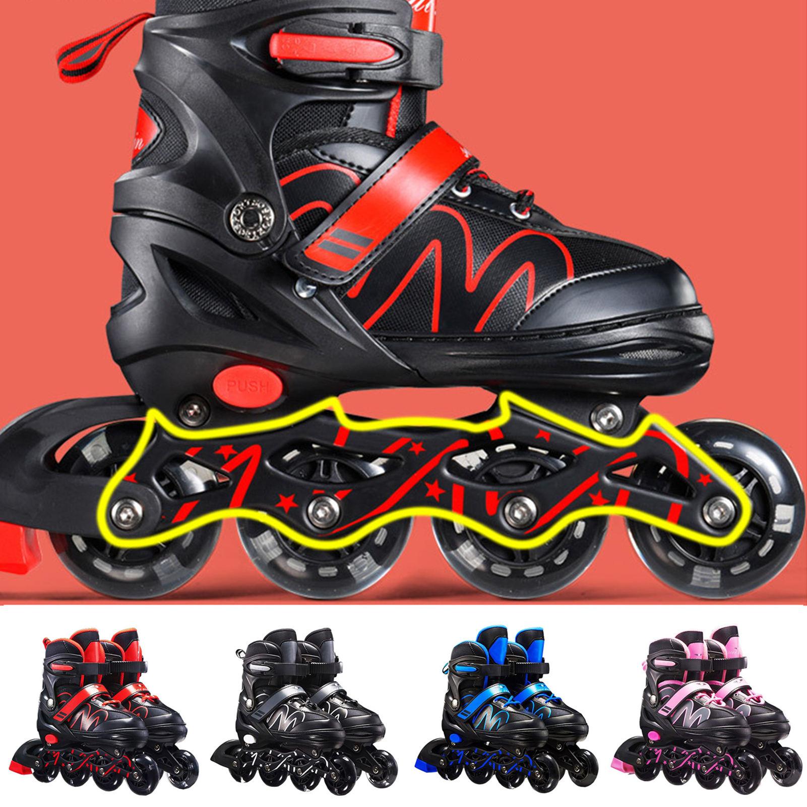New Adult Skates Beginner Roller Skates Adjustable Inline Skates For Men's Women's