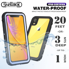 Shellbox IP68 Waterproof Case For Apple iPhone 11 Pro Max 6 S 7 8 Plus X XS MAX XR Clear Shockproof Silicone Underwater Cover