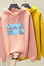 Milinsus 2019 Winter Women Hooded Sweatshirt Harajuku Cartoon Printing Pullover  Long Sleeve Casual Female Sportswear