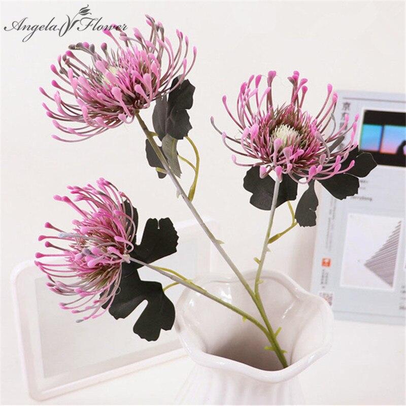 Игольчатая Подушка с 3 головками, имитация цветов, краб, коготь, цветы, фейерверки, свадьбы, цветы, украшения растений