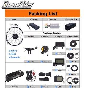 Image 2 - MXUS ebike Kit комплект для переоборудования электрического велосипеда Hailong аккумулятор 350 Вт 500 Вт 36 В Ач 48 в 17 Ач 52 в 17 Ач 15F 15R XF ЖК дисплей двигателя