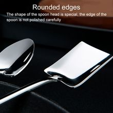 1Pc Stainless Steel Ice Cream Coffee Spoon Shovel Shape Shell Tea Spoons 2 Options Afternoon Dessert Long Handle 2020