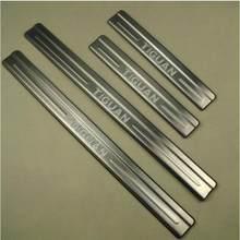 Acessórios apto para tiguan inoxidável porta scuff placas do peitoril da entrada painel capa protector 2009 2010 2011 2012 2013 2014 2015