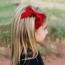 10 יח\חבילה 4 סיילור קטיפה שיער קשת עבור בנות מוצק שיער קשתות שיער קליפים ילדים DIY סרט מסיבת יום הולדת שיער אביזרים