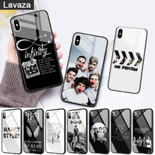 WEBBEDEPP One Direction luxury Glass Phone Case for Apple iPhone 11 Pro X XS Max 6 6S 7 8 Plus 5 5S SE цены