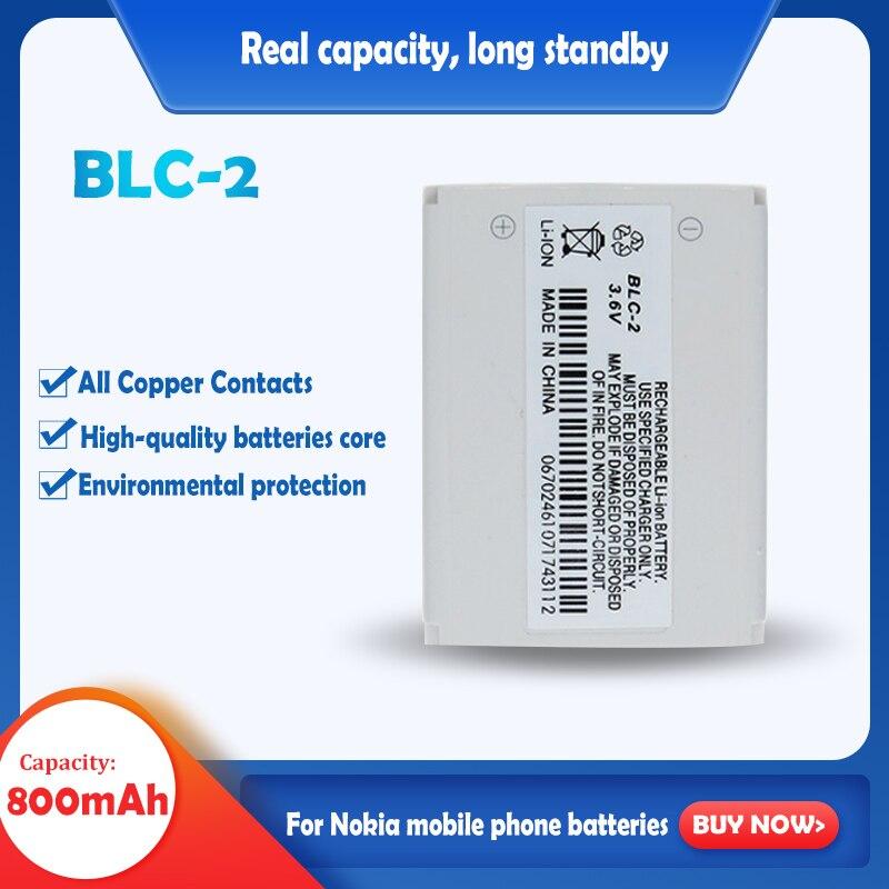 Аккумулятор для мобильного телефона BLC2, 1 шт., 800 мА/ч, аккумулятор для Nokia 3310, 3330, 3410, 3510, 5510, 3530, 3335, 3686, 3685, 3589, 3315, 3350, 3510, 6650, 6800,