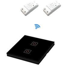 цены 1/2/3 Gang RF Switch Remote Control Wall Touch Switch for refit lamp wall lamp controller interruptor, smart switch