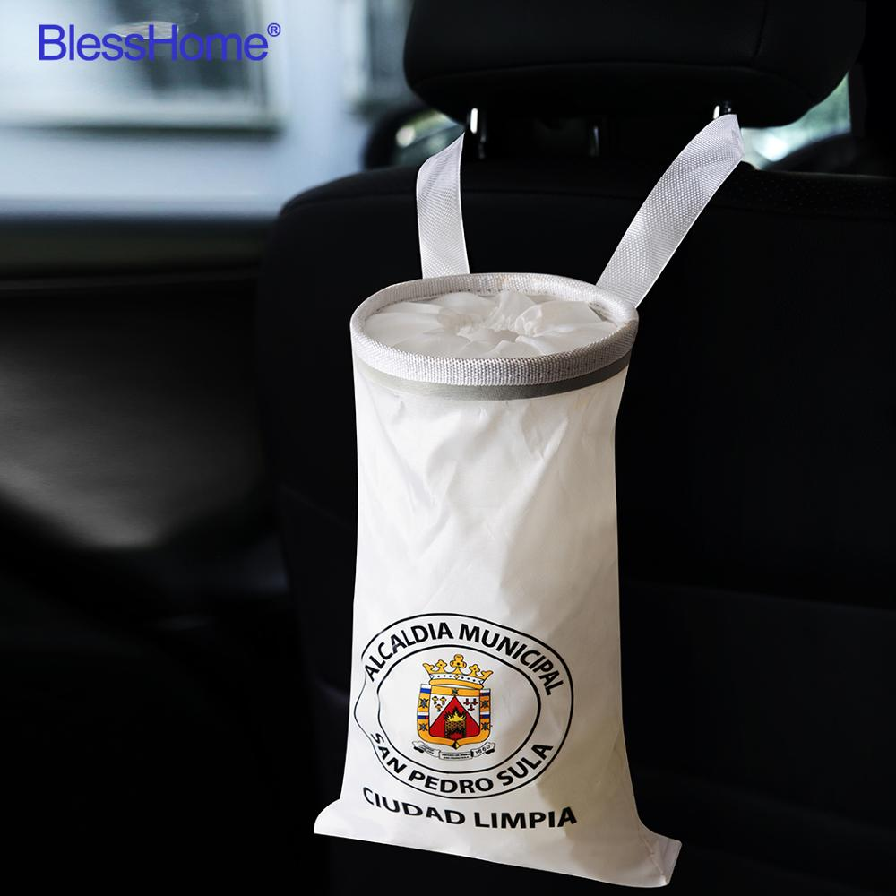 100pcs/lot Customize Car Trash Bags Car Trash Can Washable Eco Friendly Seat Back Hanging Car Trash Bag Car Garbage Bag Custom|Car Trash|   - AliExpress