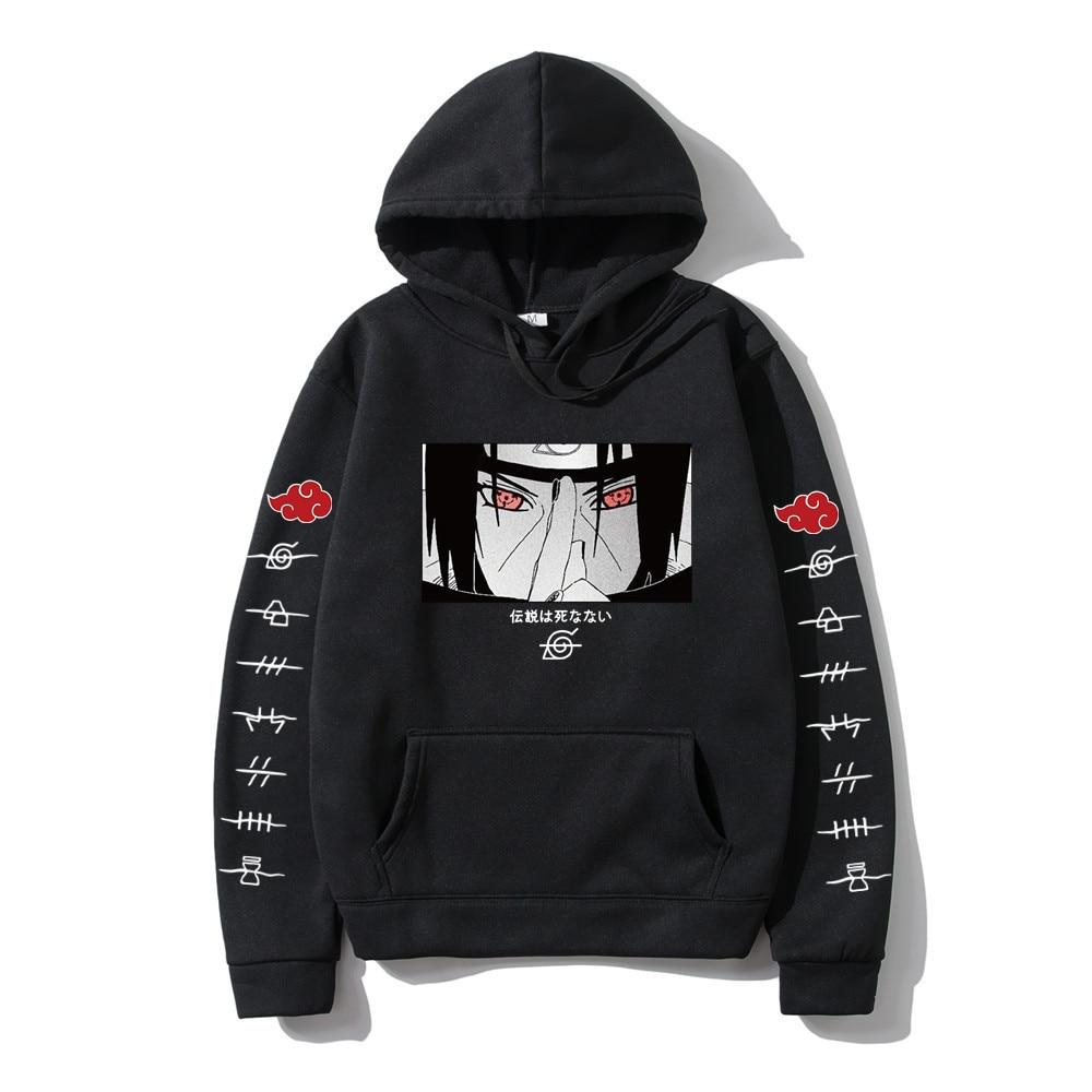 Hot Fashion Hoodies Japanese Anime Streetwear itachi pullover Sweatshirt Men Casual Autumn Winter Hip Hop Hoodie pullover