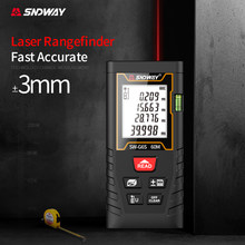 60M Digital Mini Distance Measuring Meter Handheld Rangefinder Laser Distance Meter Portable Electronic Space Measurement Device
